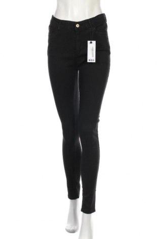 Дамски дънки Boohoo, Размер M, Цвят Черен, 78% памук, 20% полиестер, 2% еластан, Цена 44,25лв.
