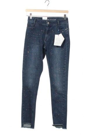 Дамски дънки Denim Hunter, Размер XS, Цвят Син, 92% памук, 4% полиестер, 4% еластан, Цена 66,75лв.