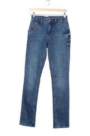 Дамски дънки Denim Hunter, Размер XS, Цвят Син, 98% памук, 2% еластан, Цена 22,25лв.