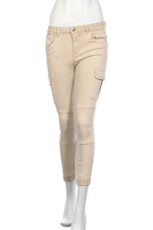 Дамски дънки ONLY, Размер M, Цвят Бежов, 98% памук, 2% еластан, Цена 36,00лв.