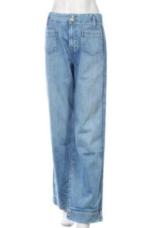 Дамски дънки Pepe Jeans, Размер S, Цвят Син, Памук, Цена 126,75лв.