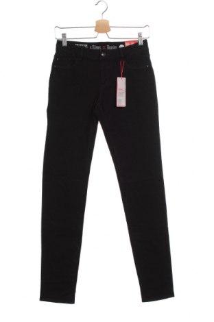 Дамски дънки S.Oliver, Размер XS, Цвят Черен, 97% памук, 3% еластан, Цена 74,25лв.