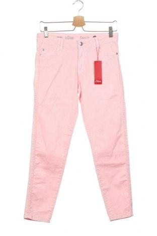 Дамски дънки S.Oliver, Размер XS, Цвят Розов, 97% памук, 3% еластан, Цена 61,50лв.
