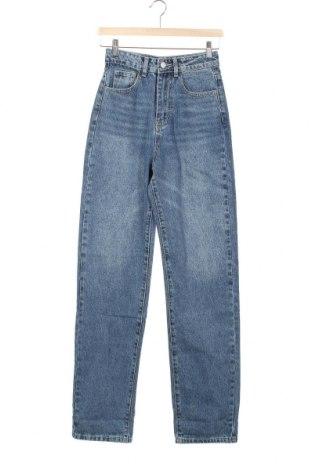 Дамски дънки SHEIN, Размер XS, Цвят Син, 85% памук, 15% полиестер, Цена 48,00лв.