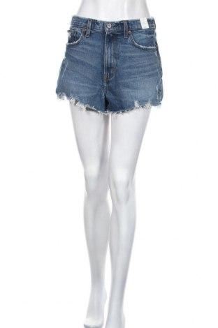 Дамски къс панталон Abercrombie & Fitch, Размер M, Цвят Син, 99% памук, 1% еластан, Цена 37,92лв.
