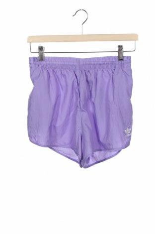 Дамски къс панталон Adidas Originals, Размер XS, Цвят Лилав, Полиамид, Цена 46,92лв.