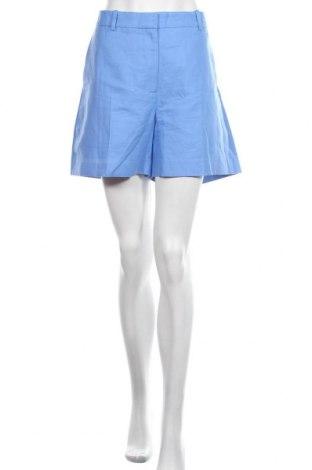 Pantaloni scurți de femei Arket, Mărime XL, Culoare Albastru, 67% bumbac, 33% alte fire, Preț 140,52 Lei
