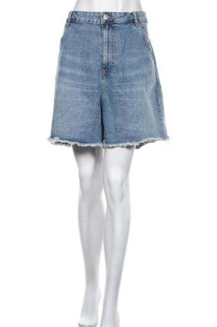 Pantaloni scurți de femei Cotton On, Mărime XXL, Culoare Albastru, 99% bumbac, 1% elastan, Preț 90,79 Lei