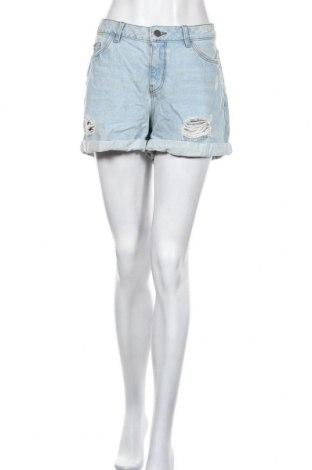 Pantaloni scurți de femei Noisy May, Mărime XL, Culoare Albastru, 100% bumbac, Preț 96,71 Lei