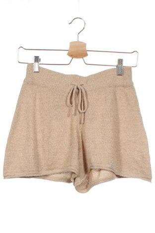 Дамски къс панталон ONLY, Размер XS, Цвят Бежов, 55% акрил, 45% полиамид, Цена 34,30лв.