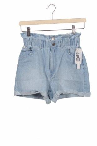 Дамски къс панталон Pimkie, Размер XXS, Цвят Син, Памук, Цена 28,80лв.