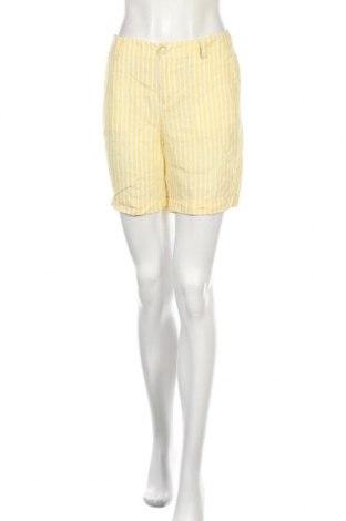 Дамски къс панталон S.Oliver, Размер S, Цвят Жълт, Лен, Цена 48,00лв.