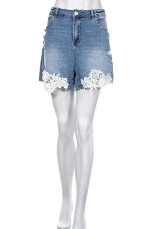 Дамски къс панталон Simply Be, Размер XXL, Цвят Син, 66% памук, 21% полиестер, 12% вискоза, 1% еластан, Цена 25,20лв.