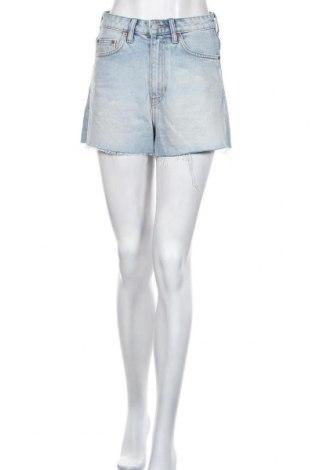 Pantaloni scurți de femei Weekday, Mărime S, Culoare Albastru, 100% bumbac, Preț 96,71 Lei