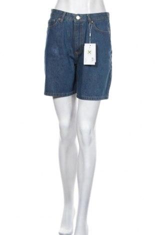 Pantaloni scurți de femei Won Hundred, Mărime M, Culoare Albastru, 100% bumbac, Preț 192,63 Lei