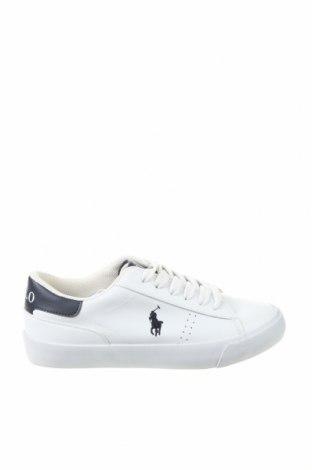 Γυναικεία παπούτσια Polo By Ralph Lauren, Μέγεθος 35, Χρώμα Λευκό, Δερματίνη, Τιμή 30,16€