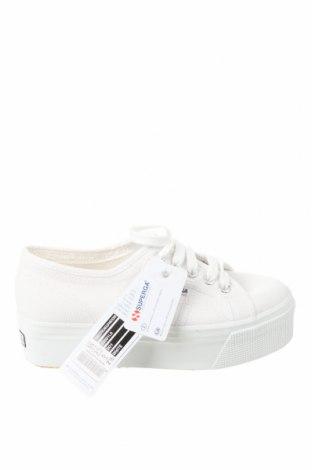 Дамски обувки Superga, Размер 35, Цвят Бял, Текстил, Цена 41,40лв.