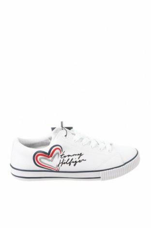 Γυναικεία παπούτσια Tommy Hilfiger, Μέγεθος 37, Χρώμα Λευκό, Κλωστοϋφαντουργικά προϊόντα, δερματίνη, Τιμή 53,76€