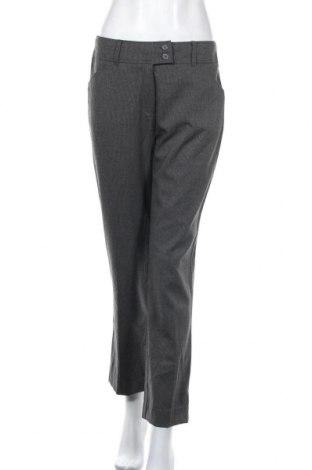 Дамски панталон Adagio, Размер M, Цвят Сив, 63% полиестер, 34% вискоза, 3% еластан, Цена 30,71лв.