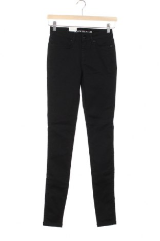 Дамски панталон Denim Hunter, Размер XS, Цвят Черен, 67% памук, 29% полиестер, 4% еластан, Цена 22,25лв.
