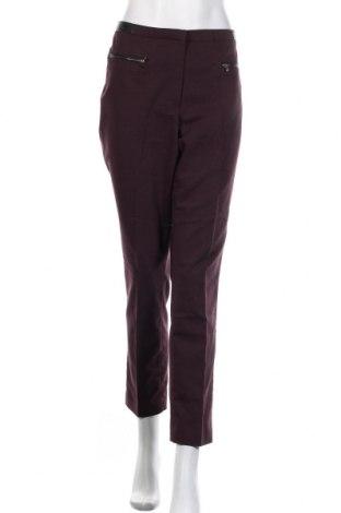 Pantaloni de femei H&M, Mărime XL, Culoare Mov, 61% bumbac, 34% poliester, 5% elastan, piele ecologică, Preț 63,16 Lei