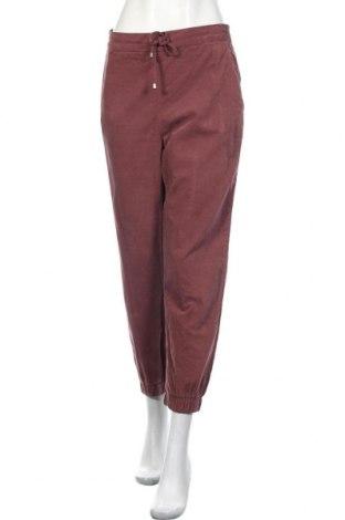 Дамски панталон Zara, Размер M, Цвят Червен, Памук, Цена 32,45лв.
