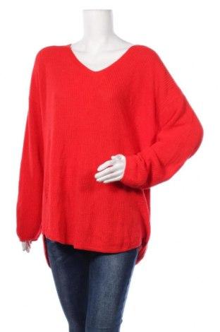Дамски пуловер A.N.A., Размер XL, Цвят Червен, Памук, Цена 22,05лв.