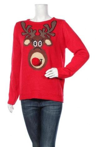 Дамски пуловер Blue Motion, Размер L, Цвят Червен, Акрил, Цена 38,85лв.