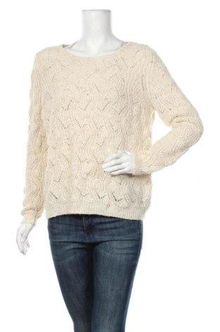 Дамски пуловер Camaieu, Размер L, Цвят Бежов, 92% акрил, 8% вълна, Цена 28,35лв.