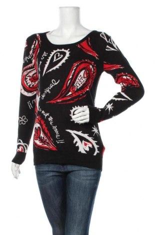 Дамски пуловер Desigual, Размер L, Цвят Черен, Памук, Цена 135,45лв.