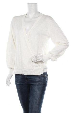 Γυναικείο πουλόβερ Lounge Nine, Μέγεθος L, Χρώμα Λευκό, 73% βαμβάκι, 27% λινό, Τιμή 35,24€