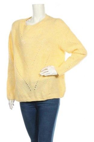 Дамски пуловер Yessica, Размер L, Цвят Жълт, 69% акрил, 31% полиестер, Цена 27,30лв.