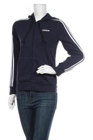 Γυναικείο φούτερ Adidas, Μέγεθος S, Χρώμα Μπλέ, 52% βαμβάκι, 48% πολυεστέρας, Τιμή 38,27€