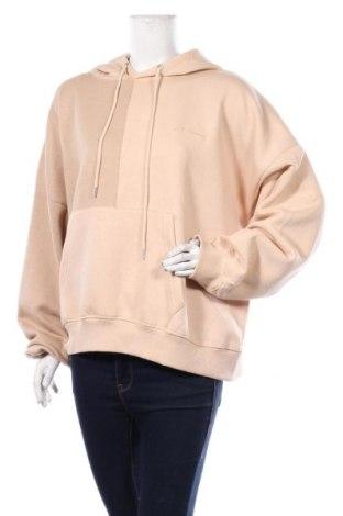 Дамски суичър Boohoo, Размер XL, Цвят Бежов, 50% памук, 50% полиестер, Цена 36,75лв.