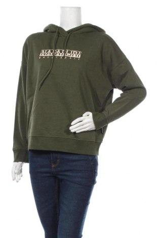 Дамски суичър Napapijri, Размер S, Цвят Зелен, 90% памук, 10% полиестер, Цена 126,75лв.