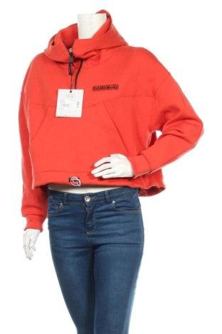 Дамски суичър Napapijri, Размер S, Цвят Оранжев, 67% памук, 33% полиестер, Цена 126,75лв.