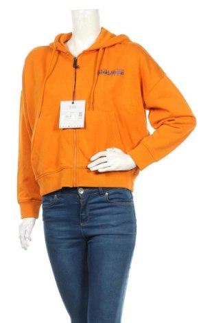 Дамски суичър Napapijri, Размер S, Цвят Оранжев, 90% памук, 10% полиестер, Цена 111,75лв.