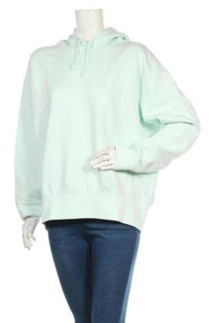 Дамски суичър Nike, Размер M, Цвят Зелен, 80% памук, 20% полиестер, Цена 66,75лв.