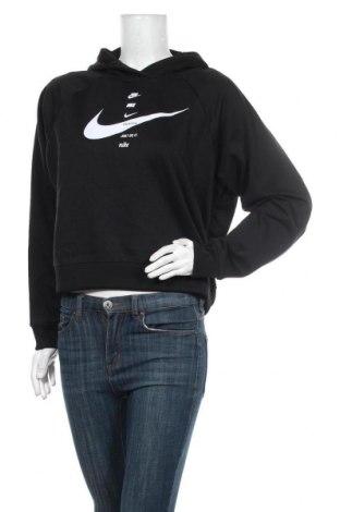 Γυναικείο φούτερ Nike, Μέγεθος M, Χρώμα Μαύρο, 76% πολυεστέρας, 24% βαμβάκι, Τιμή 38,27€