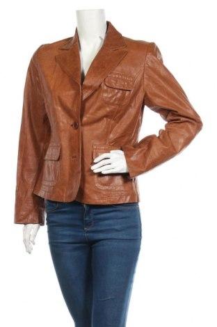 Дамско кожено сако Auluna, Размер M, Цвят Кафяв, Естествена кожа, Цена 18,90лв.