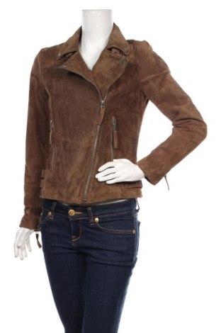 Дамско кожено яке Freaky Nation, Размер M, Цвят Кафяв, Естествен велур, Цена 299,25лв.