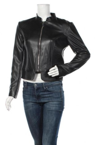 Дамско кожено яке Guess, Размер L, Цвят Черен, Еко кожа, Цена 148,85лв.
