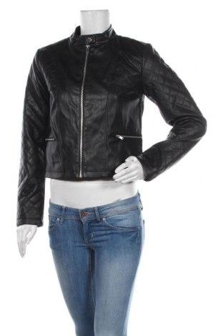 Дамско кожено яке Jacqueline De Yong, Размер M, Цвят Черен, Еко кожа, Цена 63,00лв.