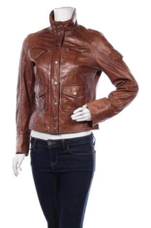 Дамско кожено яке Linea Tesini, Размер M, Цвят Кафяв, Естествена кожа, Цена 93,45лв.