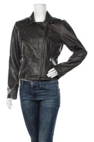 Дамско кожено яке ONLY, Размер L, Цвят Черен, Еко кожа, Цена 64,35лв.