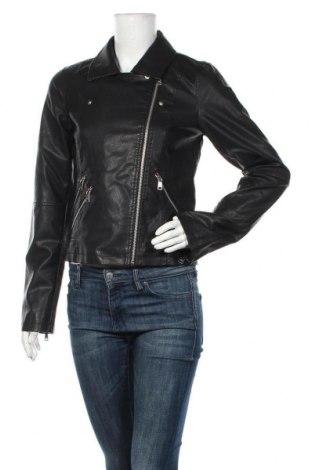 Дамско кожено яке ONLY, Размер M, Цвят Черен, Еко кожа, Цена 61,10лв.