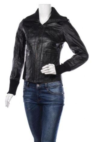 Dámská kožená bunda  Tally Weijl, Velikost S, Barva Černá, Pravá kůže, Cena  1070,00Kč