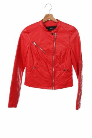 Дамско кожено яке Vero Moda, Размер XS, Цвят Червен, Еко кожа, Цена 66,75лв.