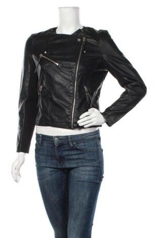 Дамско кожено яке Vero Moda, Размер L, Цвят Черен, Еко кожа, Цена 46,80лв.