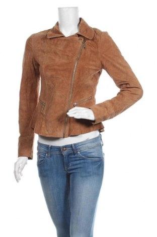 Дамско кожено яке Yessica, Размер S, Цвят Кафяв, Естествен велур, Цена 86,10лв.